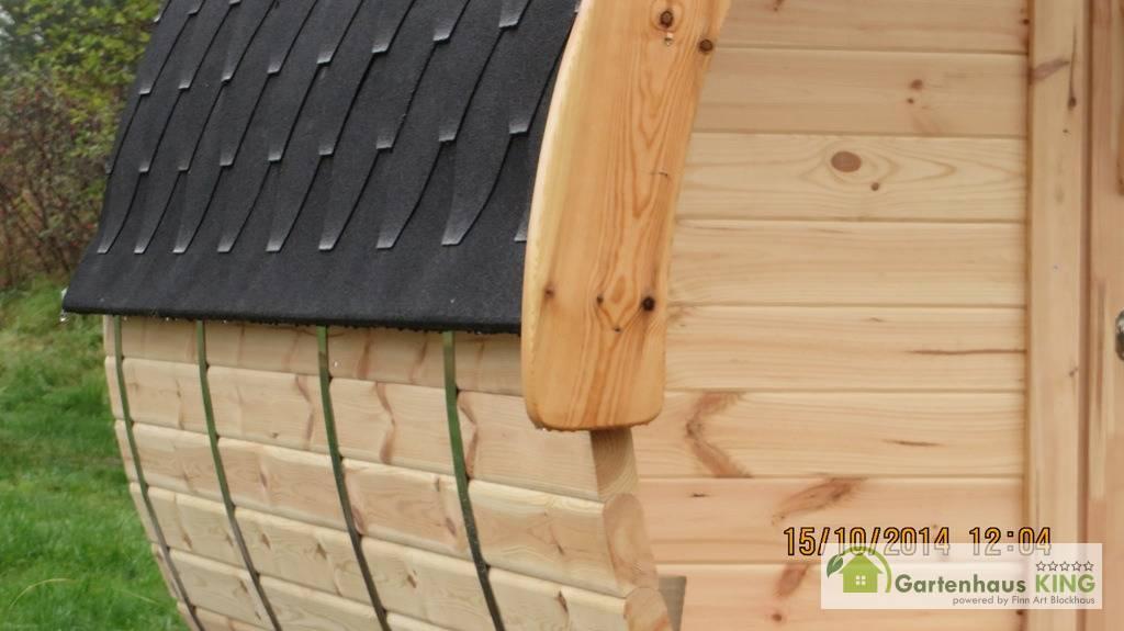 Finn Art Fass Sauna Premium 350 227 Thermoholz Gartenhaus King De