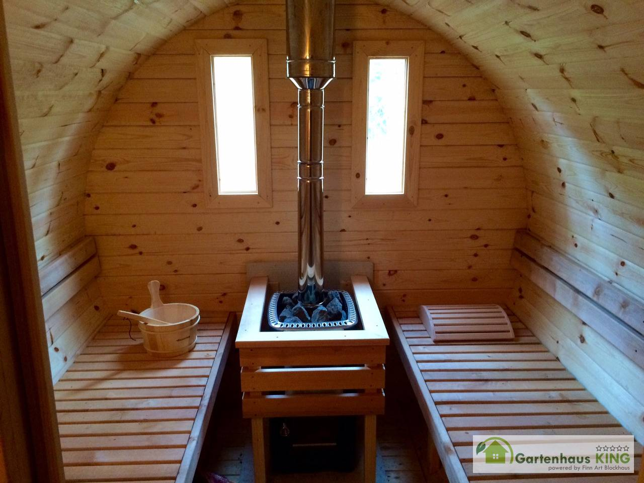 Finn Art Fass Sauna Premium 400 227 Thermoholz Gartenhaus King De