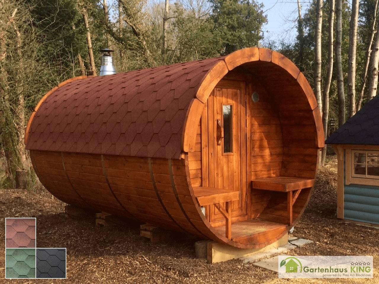 finn art fass sauna premium 400 227 thermoholz gartenhaus. Black Bedroom Furniture Sets. Home Design Ideas