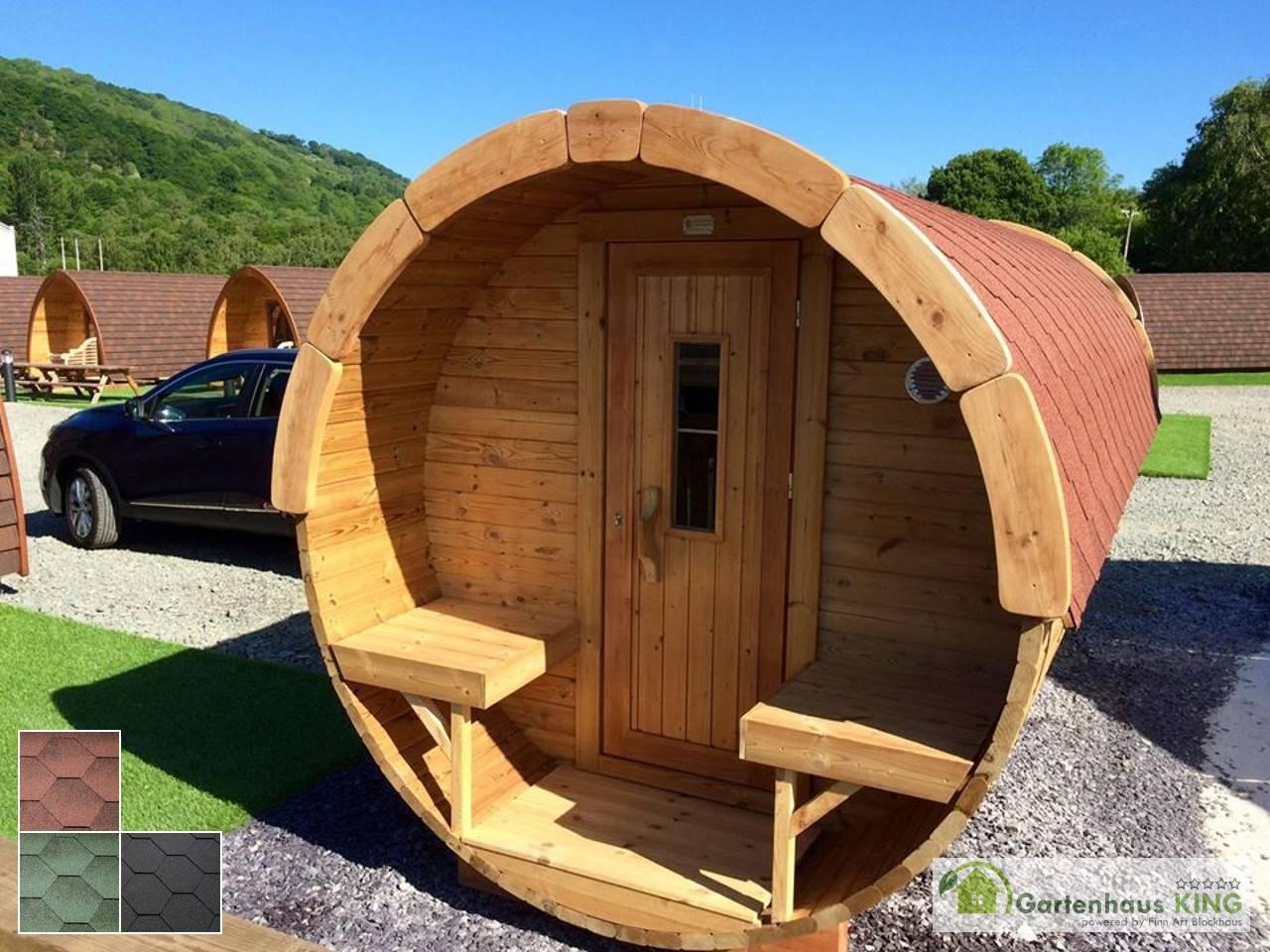 Finn Art Fass Sauna Premium 450 227 Thermoholz Gartenhaus King De