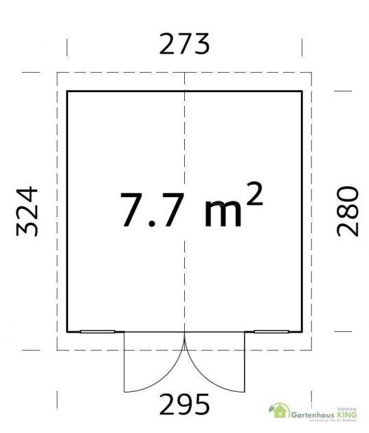 Palmako Gerätehaus Dan 7,7 m²
