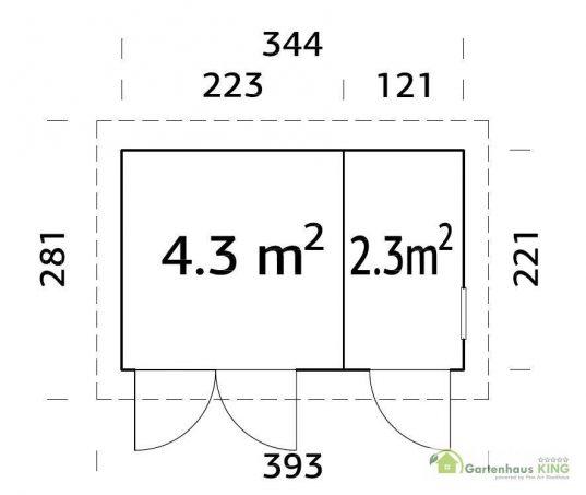 Palmako Gerätehaus Kalle 6,6 m²