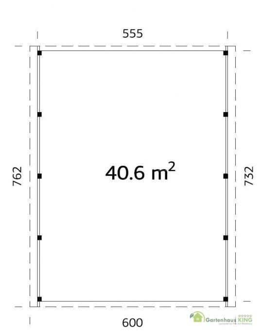 Palmako Holzcarport Karl 40,6 m²