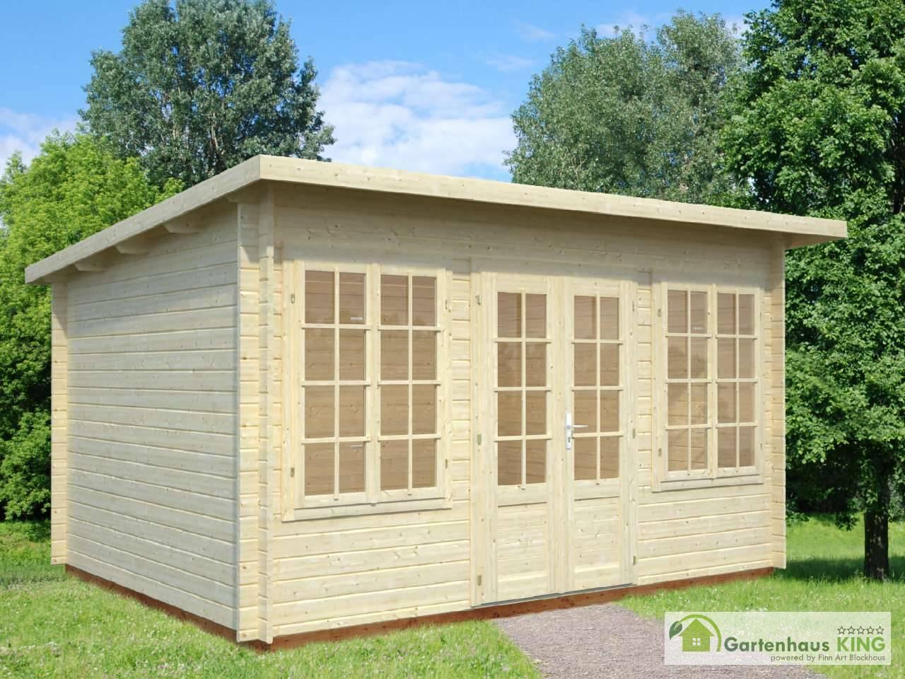 pultdach gartenhaus palmako lisa 11,5 m² - gartenhaus-king.de