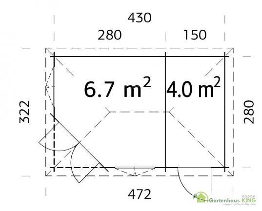 Palmako 5 Eck Gartenhaus Melanie 10,7 m²