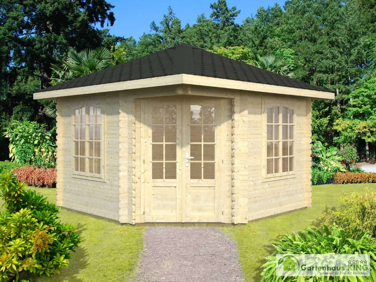 palmako 5 eck gartenhaus melanie 6 8 m gartenhaus. Black Bedroom Furniture Sets. Home Design Ideas