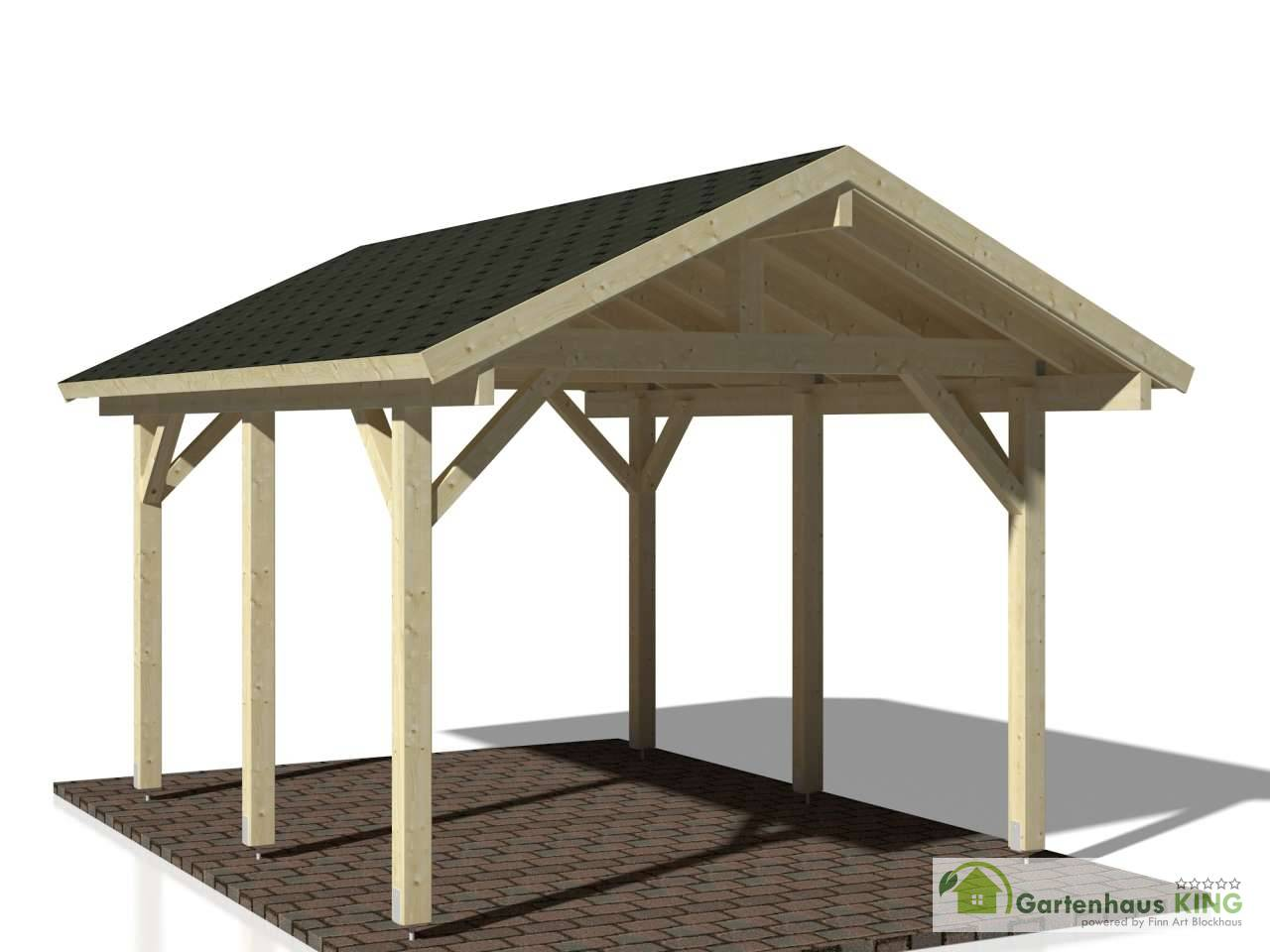 palmako holzcarport robert 11 7 m gartenhaus. Black Bedroom Furniture Sets. Home Design Ideas