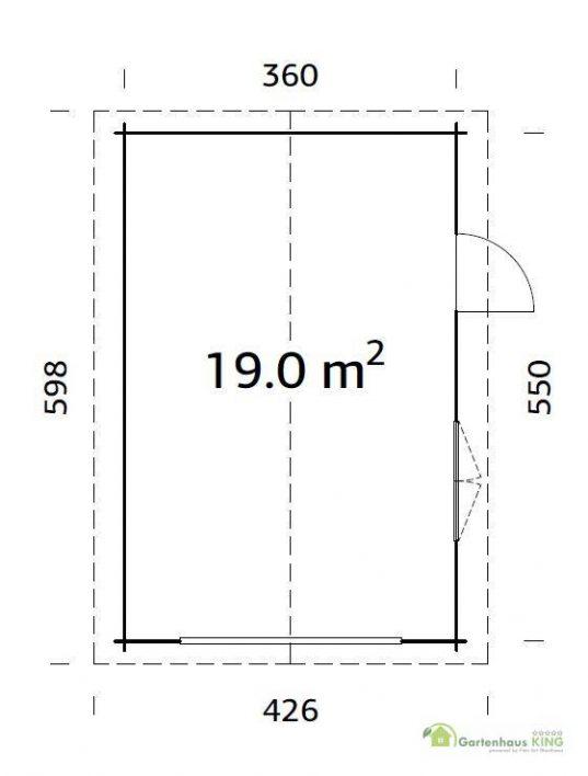 Palmako Holzgarage Roger 19,0 m²