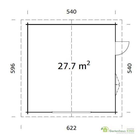 Palmako Holzgarage Roger 27,7 m²