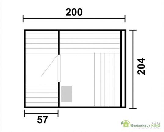 Saunafass 200 / 204