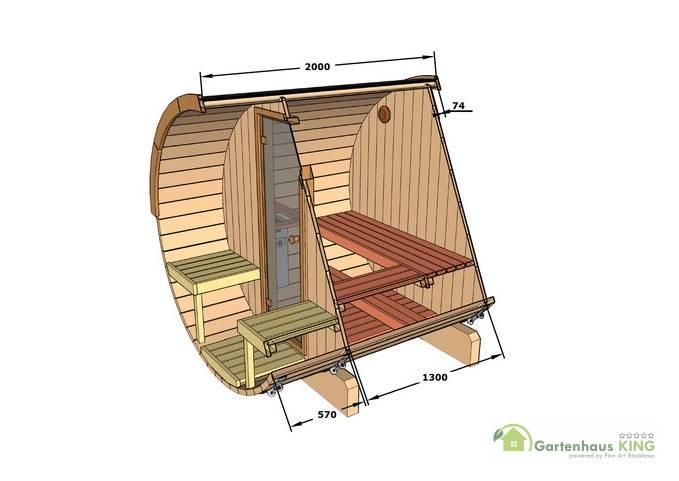 finn art fass sauna alvi 2 gartenhaus. Black Bedroom Furniture Sets. Home Design Ideas