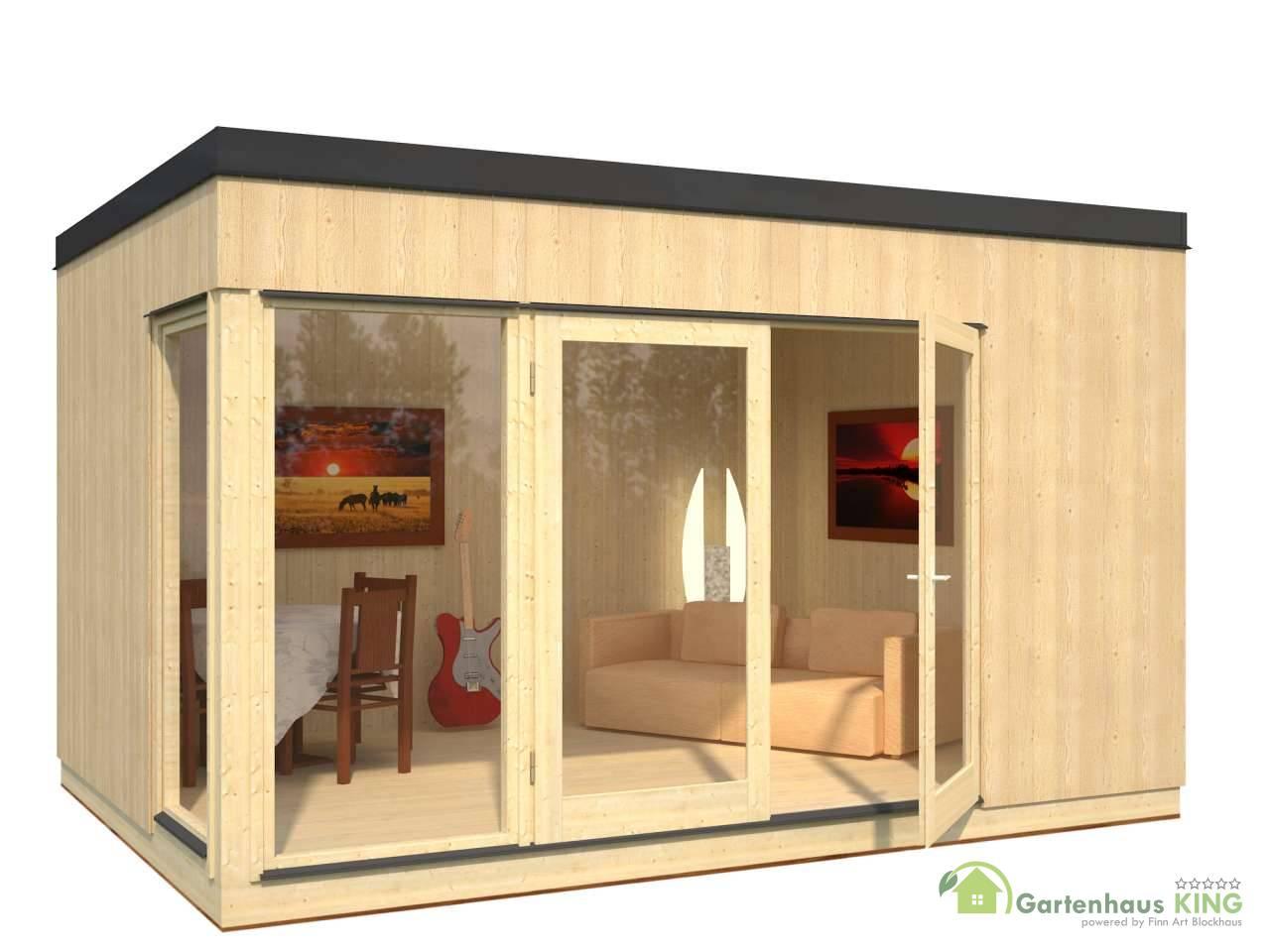 Pultdach gartenhaus palmako solveig 13 6 m gartenhaus for Casetas aluminio para terrazas
