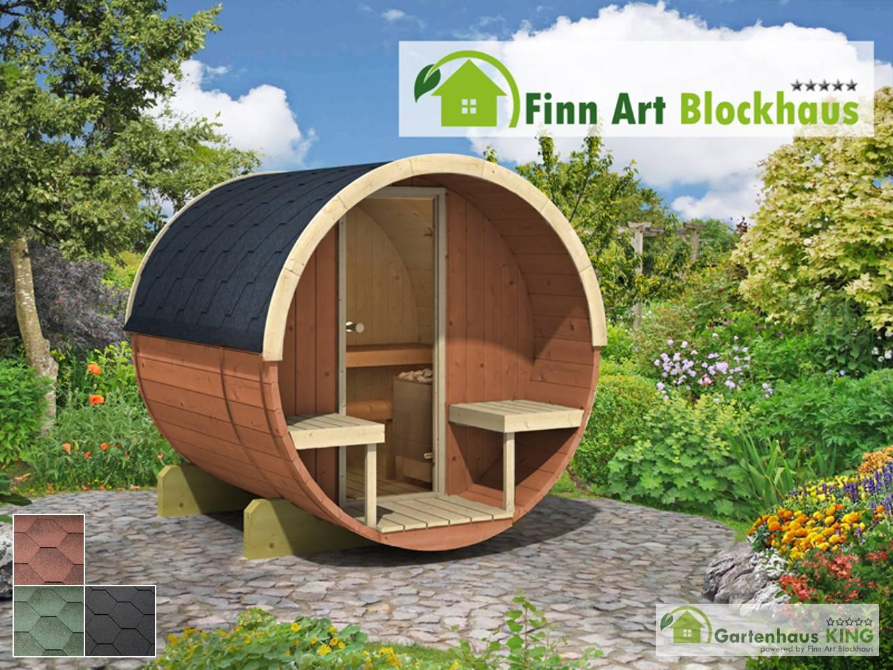 Finn Art Fass Sauna Alvi 5 Thermoholz   Gartenhaus King.de