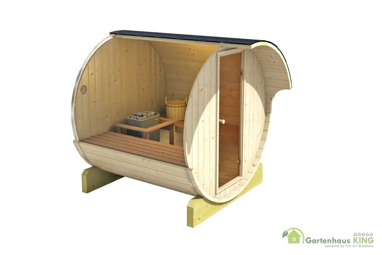 finn art fass sauna ove 8 thermoholz gartenhaus. Black Bedroom Furniture Sets. Home Design Ideas