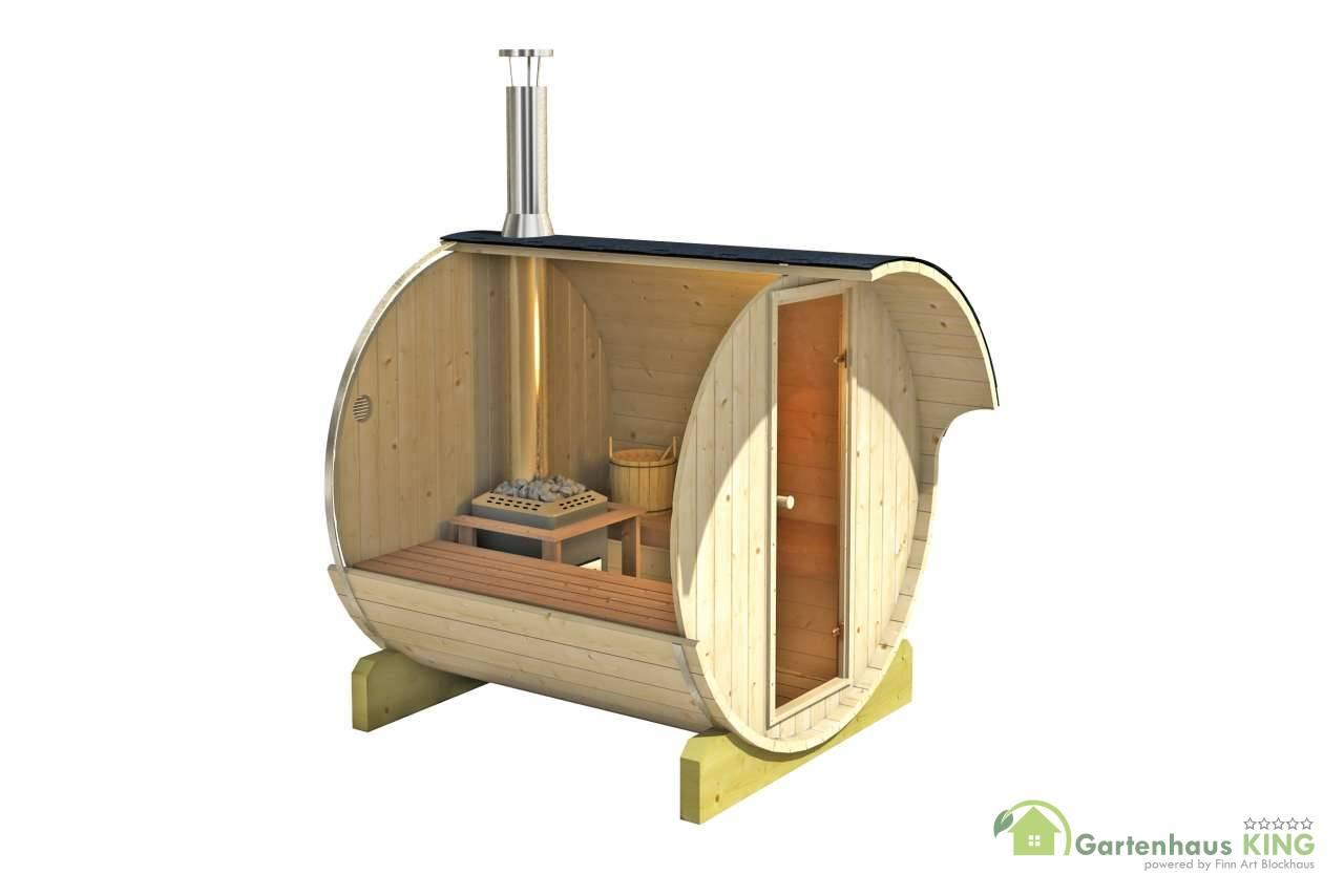 finn art fass sauna ove 6 thermoholz gartenhaus. Black Bedroom Furniture Sets. Home Design Ideas