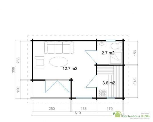 Lasita Maja Gartenhaus Orkney 3 Grundriss