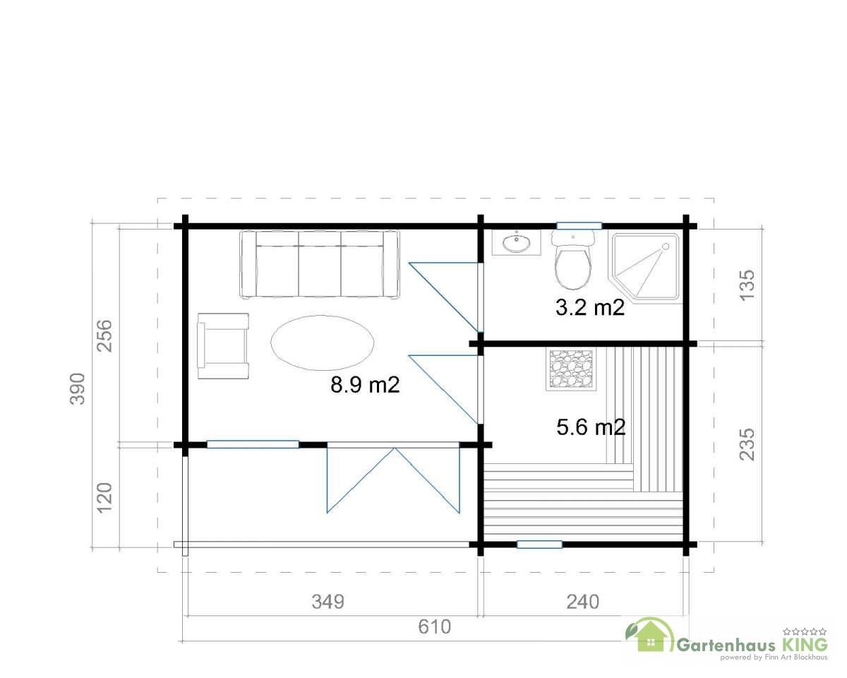 70 mm gartenhaus orkney 7 390x610 lasita maja gartenhaus blockhaus holz ebay. Black Bedroom Furniture Sets. Home Design Ideas