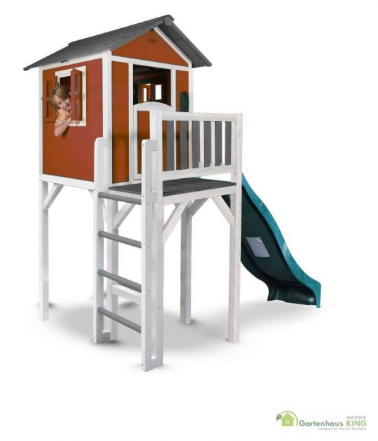 Sunny Kinderspielhaus Lodge XXL rot