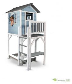 Sunny Kinderspielhaus Lodge XXL Plus blau-weiss