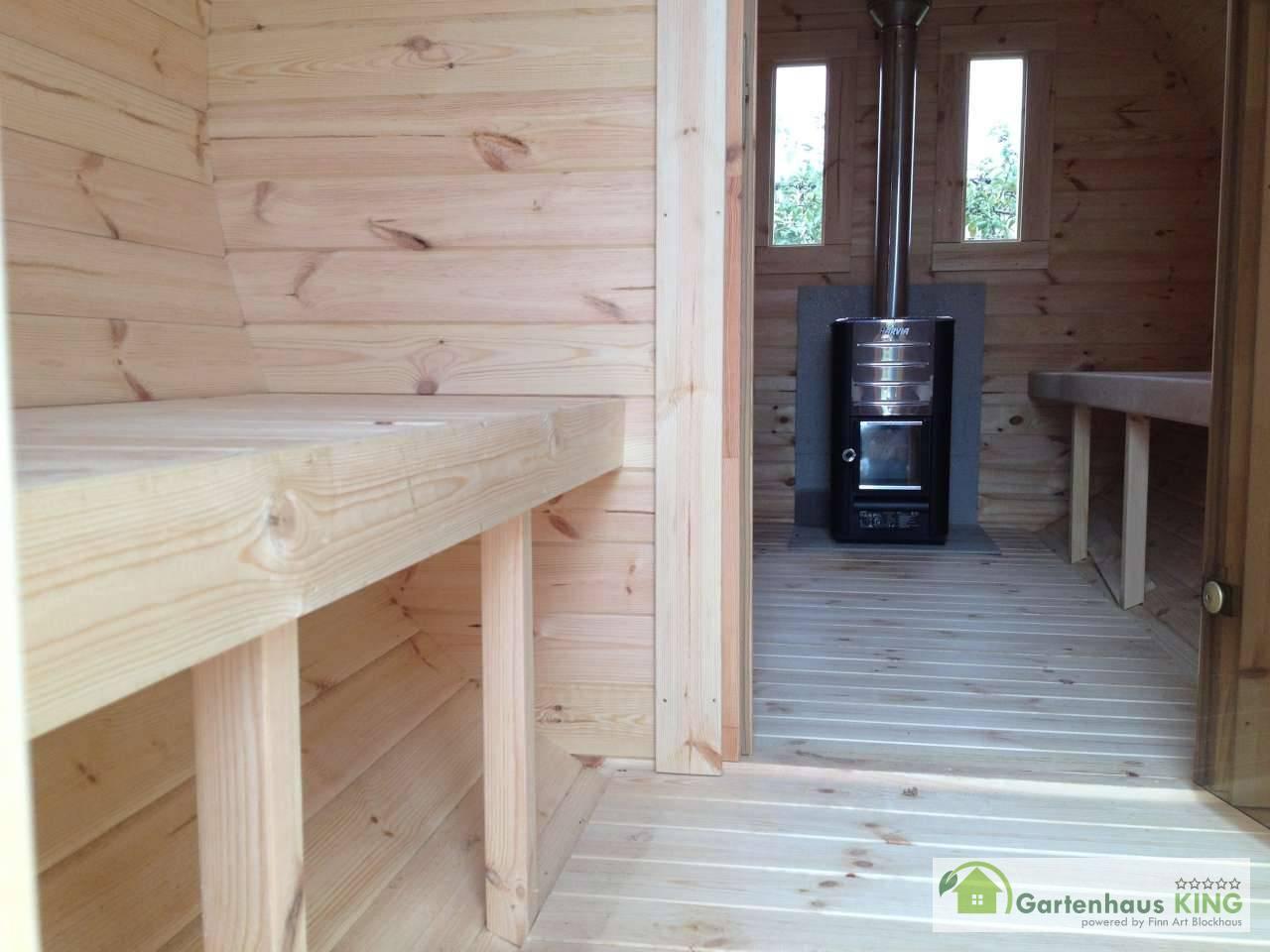 finn art fass sauna premium 480 227 thermoholz gartenhaus. Black Bedroom Furniture Sets. Home Design Ideas