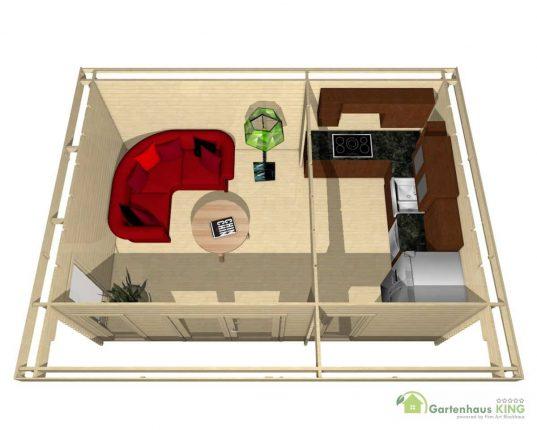 Gartenhaus York 27 - 40216 3D