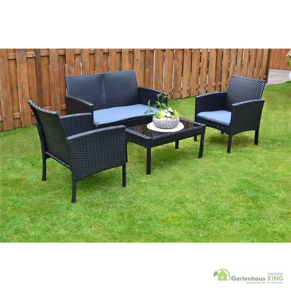 rattan sitzgruppe lounge poly rattanm bel gartenm bel sofa. Black Bedroom Furniture Sets. Home Design Ideas