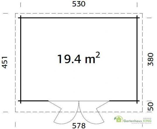 Pultdach Gartenhaus Palmako Lea 19,4 m²