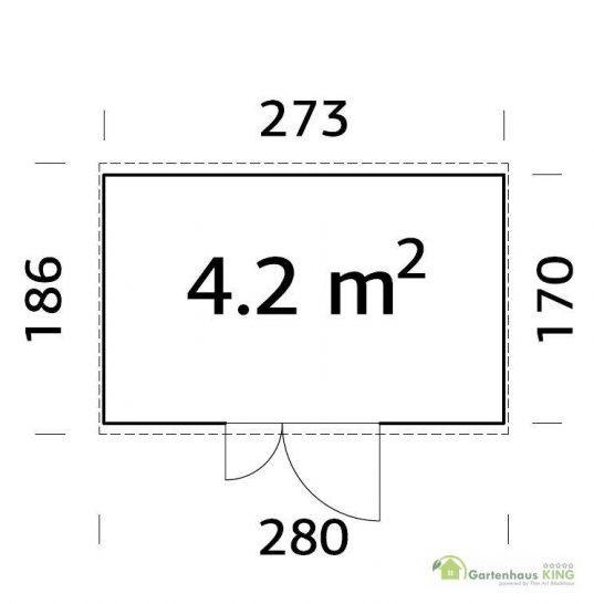 Pultdach Gerätehaus Palmako Leif 4,2 m²
