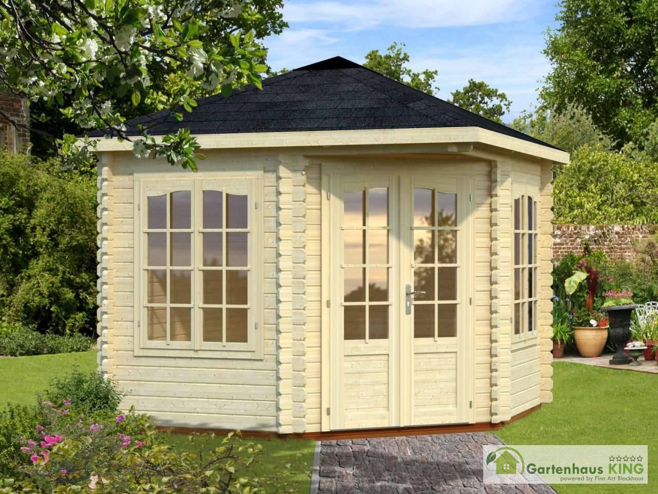 palmako 5 eck gartenhaus melanie 6 6 m gartenhaus. Black Bedroom Furniture Sets. Home Design Ideas