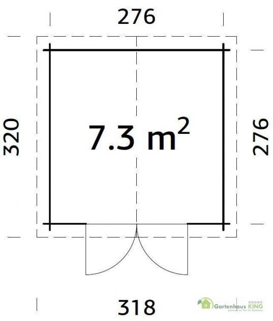 Palmako Gerätehaus Ralf 7,3 m² Grundriss