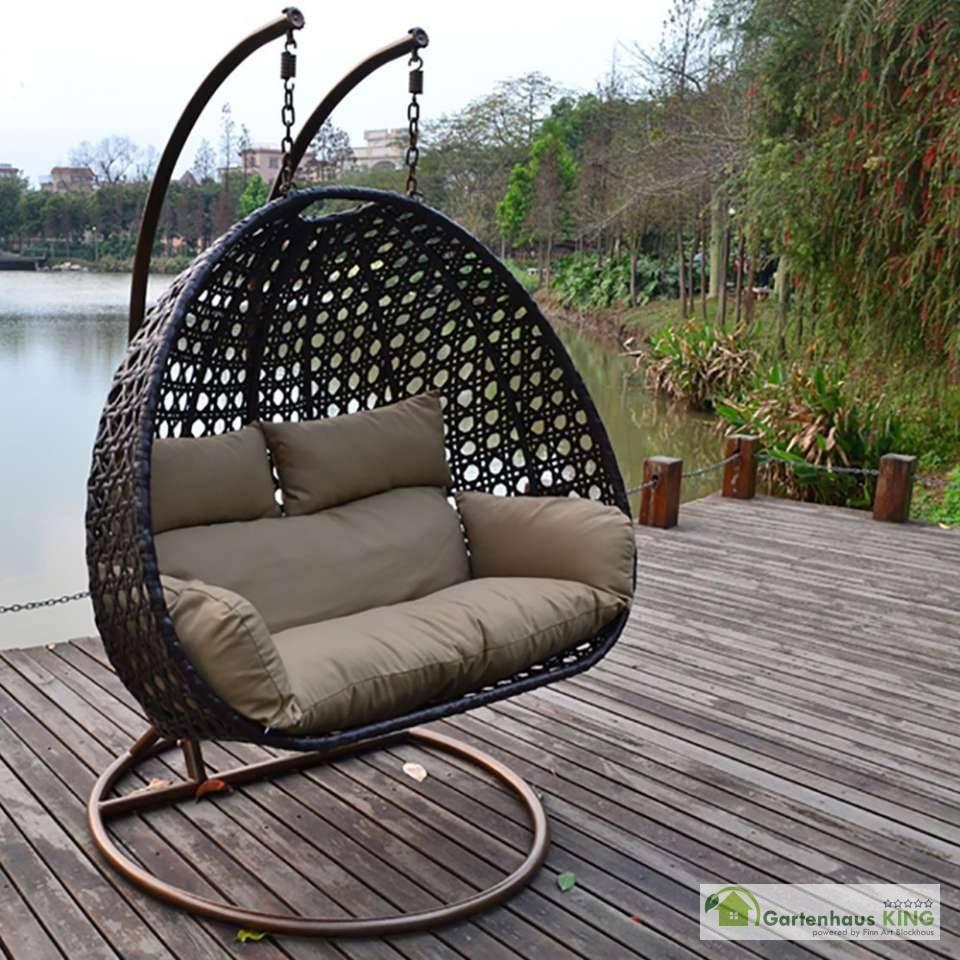 polyrattan h ngesessel twin braun gartenhaus. Black Bedroom Furniture Sets. Home Design Ideas