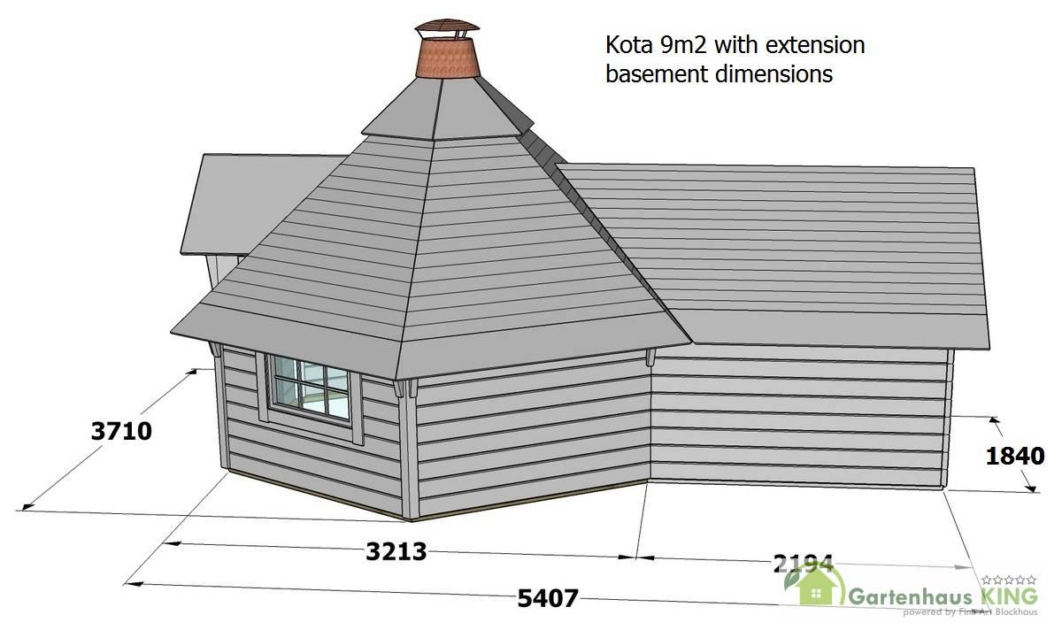 finn art grillkota jasper 9 2 m mit anbau gartenhaus. Black Bedroom Furniture Sets. Home Design Ideas
