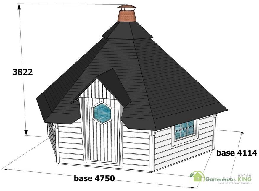 finn art grillkota finnland 15 m gartenhaus. Black Bedroom Furniture Sets. Home Design Ideas