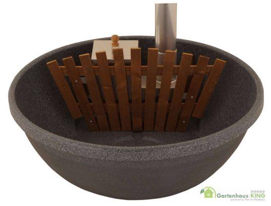 Badefass 160 Fun Schwarz/Granit mit Innenofen