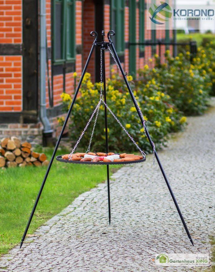 schwenkgrill dreibein grill mit grillrost verschiedene 180 cm h he gartenhaus. Black Bedroom Furniture Sets. Home Design Ideas