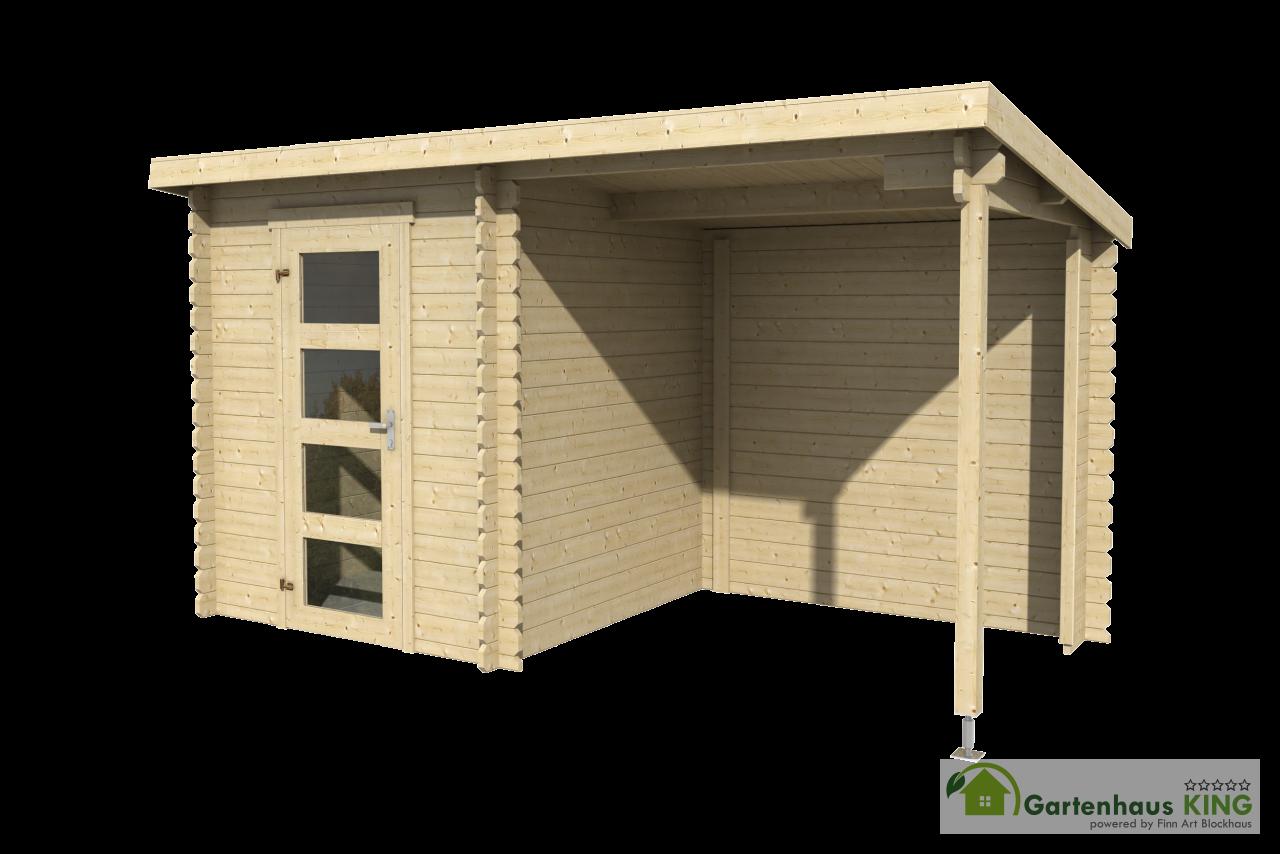 pultdach flachdach gartenhaus impr gniert lasita maja. Black Bedroom Furniture Sets. Home Design Ideas