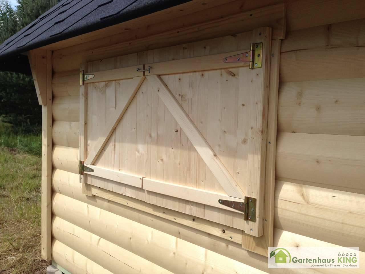 Fensterläden 2-teilig für 3 Fenster Modelle Jasper / Finnland
