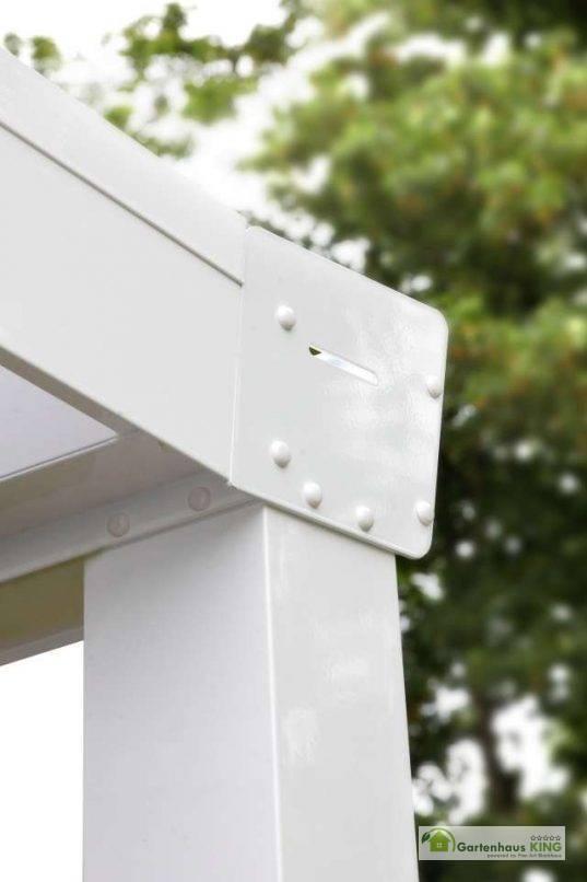 Alu Terrassenüberdachung Expert klar weiss (RAL 9016)