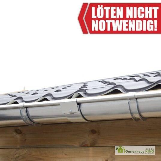 Zink Dachrinnen Verlängerungsset für Satteldach 1,7m Traufe
