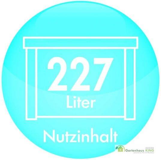 Patio Bench 227 Liter, espressobraun