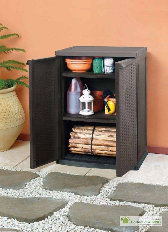 Rattan Style Mini Shed