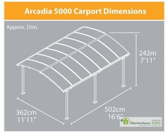 Alu Carport Arcadia 5000