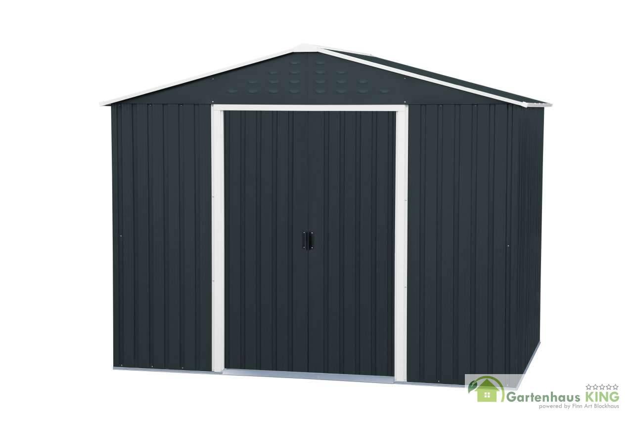 metallger tehaus titan 8x6 anthrazit version 2019 gartenhaus. Black Bedroom Furniture Sets. Home Design Ideas