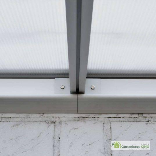 Terrassendach Bausatz HD 4 Polycarbonat transparent Alu-Stützen anthrazit