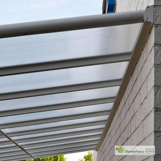 Terrassendach Bausatz HD 3 Polycarbonat transparent Alu-Stützen anthrazit