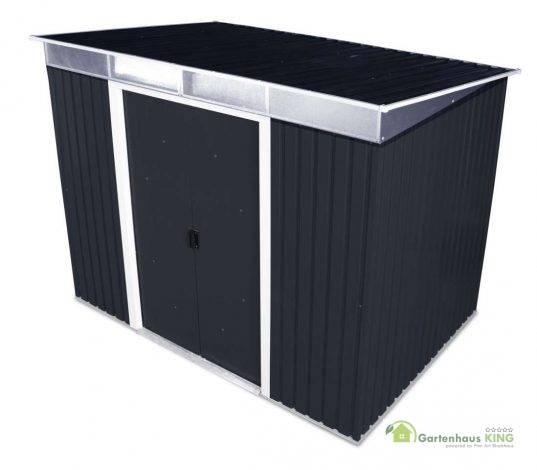 Metallgerätehaus Pent Roof Skylight 8x6 anthrazit - Version 2019