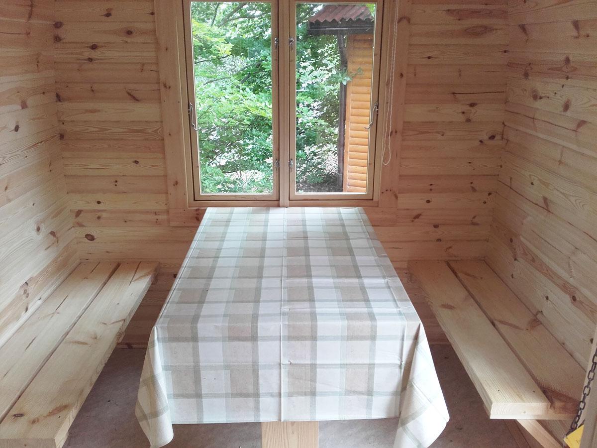 Sitzgarnitur für Camping Pod/Bus/Fass