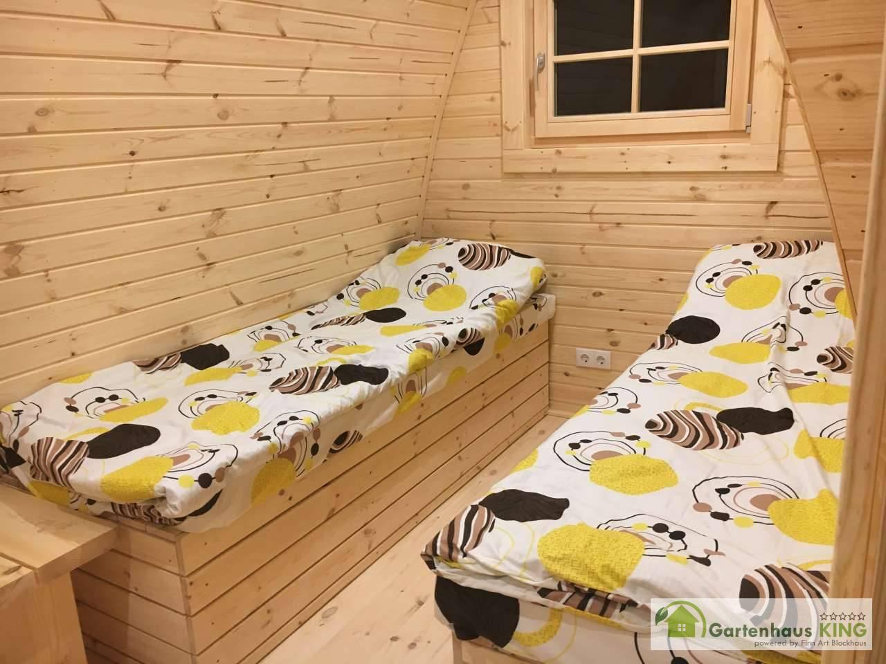 Einzelbett (2 Stück) mit Stauraum für Camping Pod/Bus/Fass