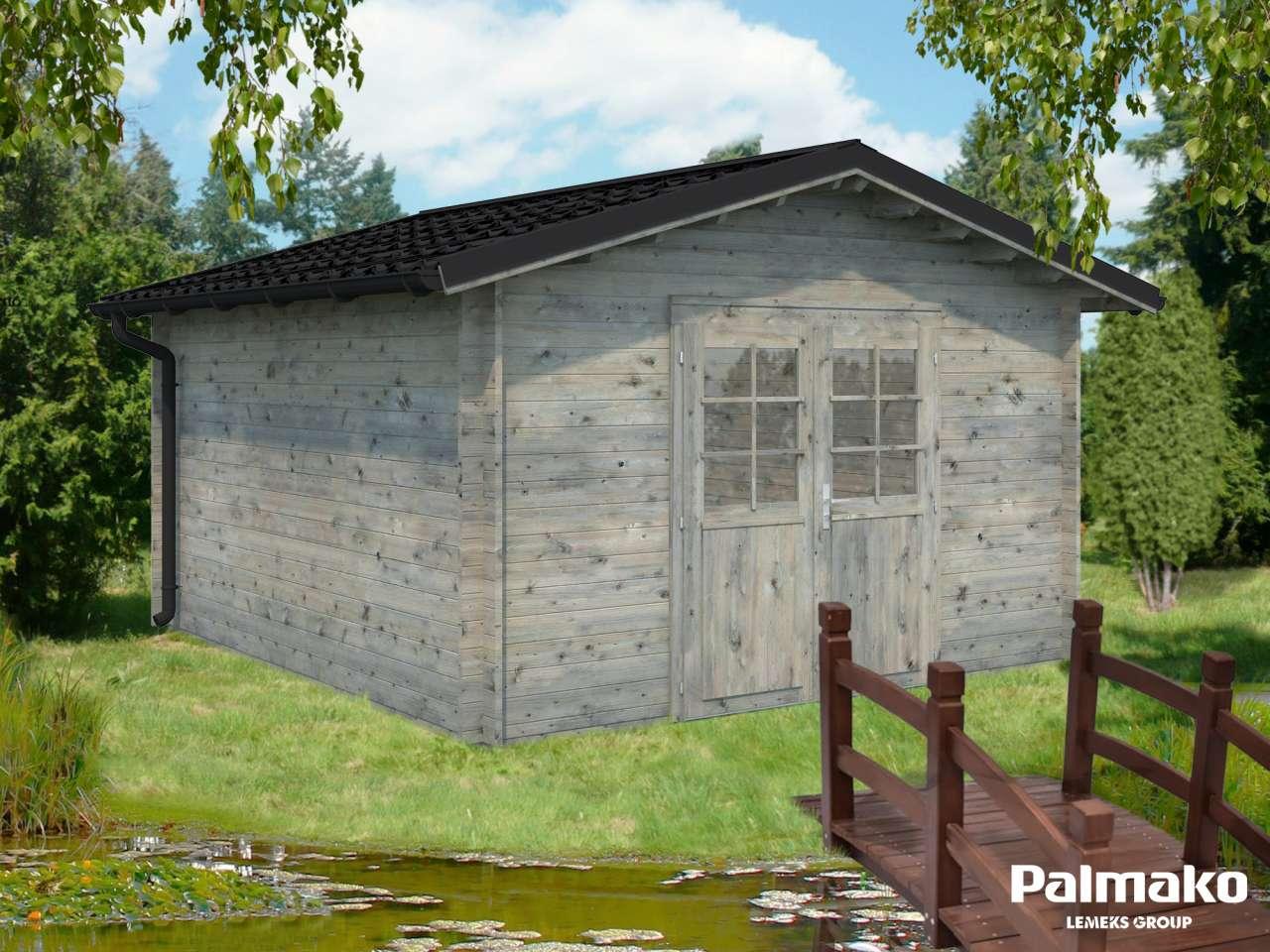Palmako Gartenhaus Tina 13,5m² mit Metalldach