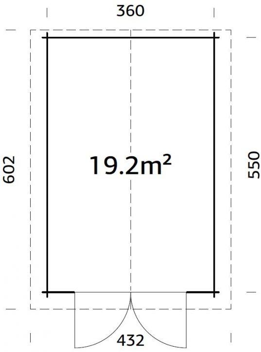 Palmako Holzgarage Tomas 19,2 m² mit Holztor